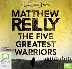Audio-Book-MP3-CD-The-Five-Greatest-Warriors-Matthew-Reilly-NEW